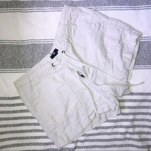 Gap linen drawstring shorts